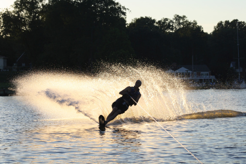 Burn Due to Water Skis on Fire (V91.07X)