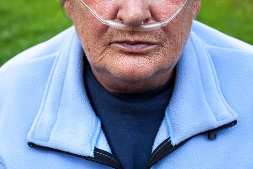 A person with chronic obstructive pulmonary disorder.