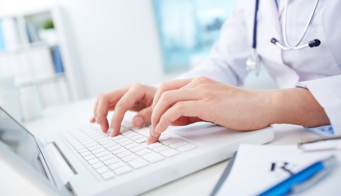 Physicians should Log off while the patient is present to reassure them that information remains private.