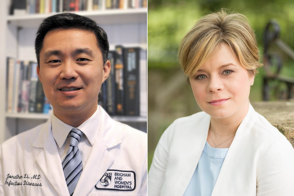 Dr Li (left) and Dr Dubé (right) talk about the implications of requesting study participants to pause ART as part of HIV cure-related research and clinical trials.