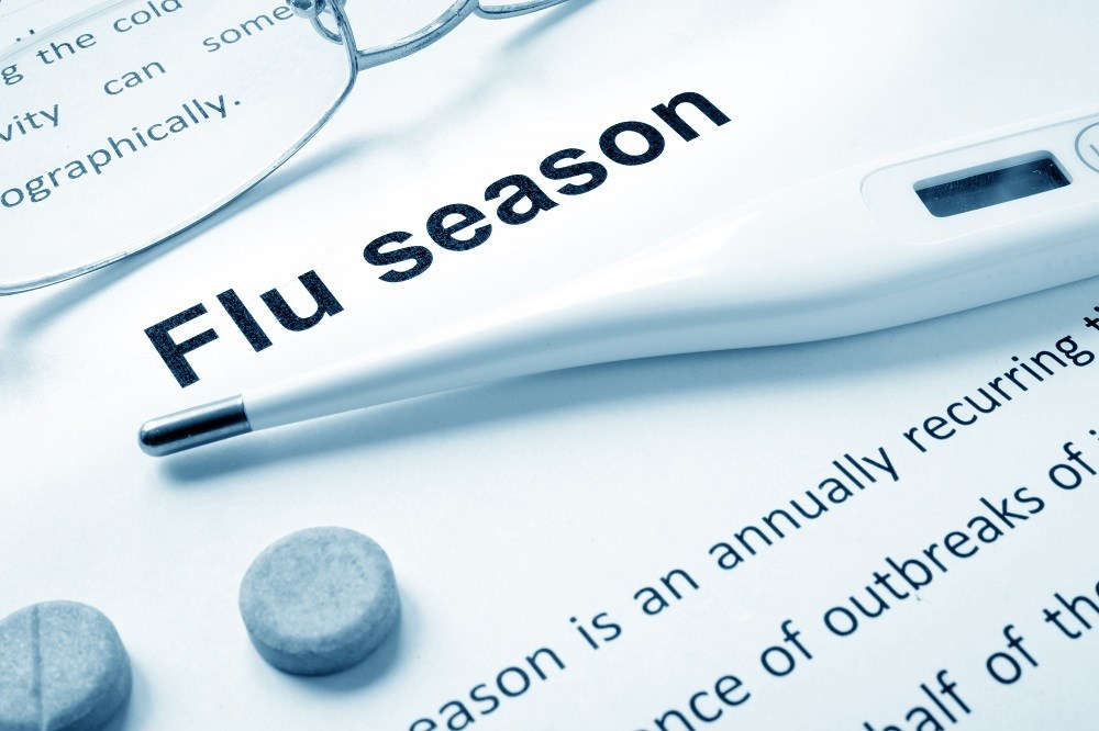 The percentage of outpatient visits that were for influenza-like illness rose sharply in late 2017 to 7.7% in early February.