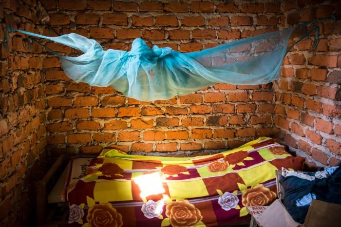 Malaria infection prevalence after 9 months was lower in the 2 groups that received PBO long-lasting insecticidal nets.  <i>Photo Credit: BK Kapella, MD (CDR; USPHS).</i>